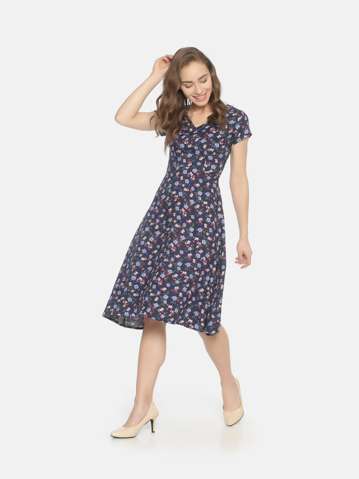 Floral Dress Blue - Studio Y