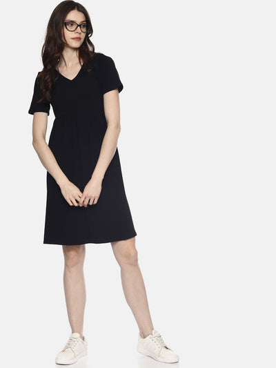 Black Yoke Knit Dress - Studio Y