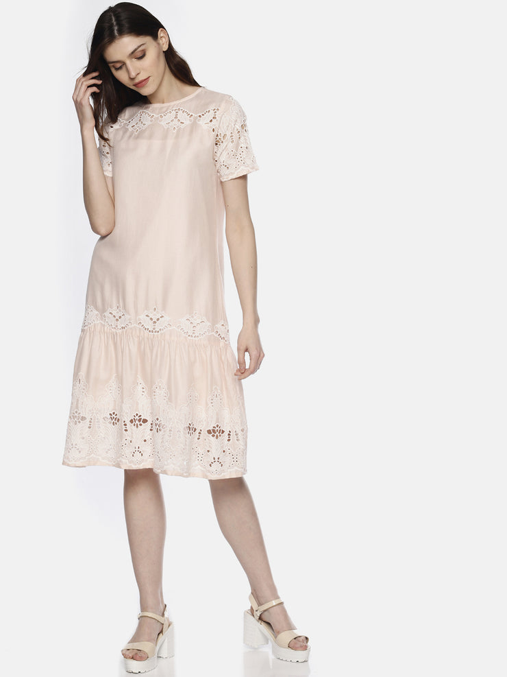 Pink Lace Frill Dress - Studio Y