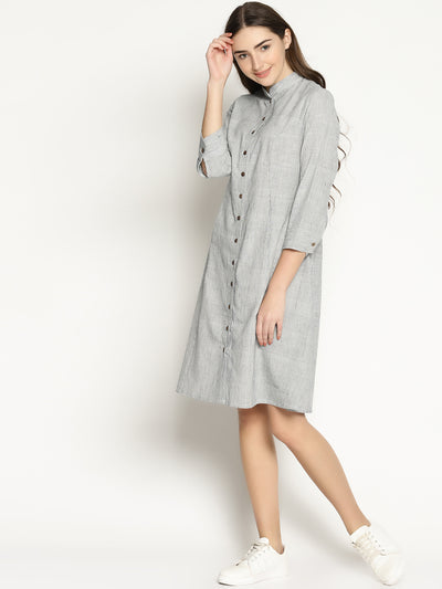 Khadi Stripes Dress - Studio Y - Khadi Formal Wear