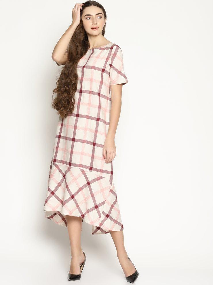 Checks Midi Dress - Studio Y