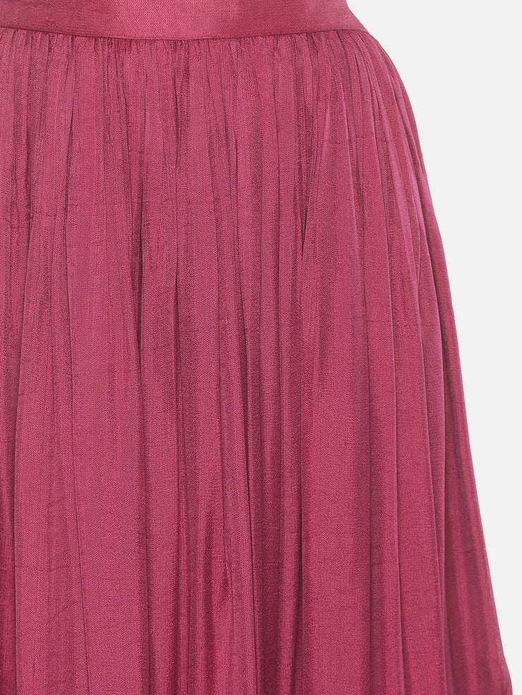 Onion Pink Gathers Skirt - Studio Y