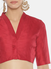 Dark Red Blouse - Studio Y - Saree Blouse Designs