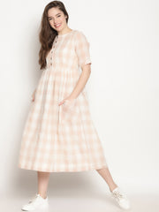 Beige Checks Dress - ***sold out - Studio Y