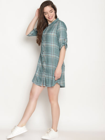 Green Checks Dress - Studio Y