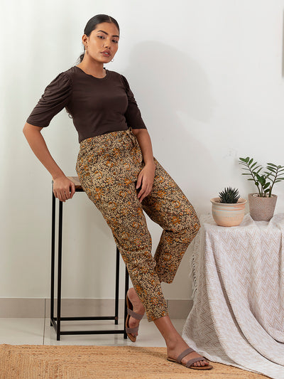 Label Y Looms Trouser Printed Cotton Pants Green