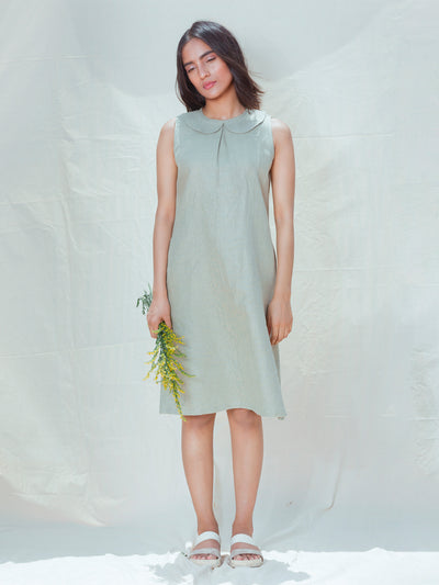 LL DR02 Pastel Green Sleeveless Dress - Studio Y