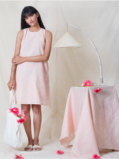 LL DR01 Pastel Pink Sleeveless Dress - Studio Y