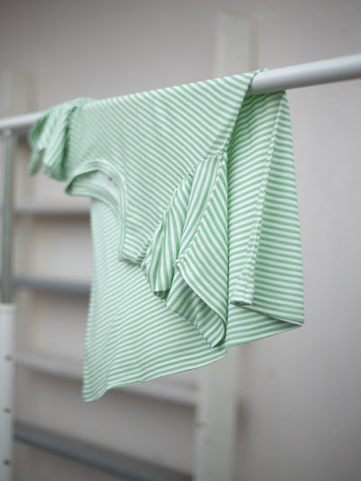 Label Y Basics Tee Green Striped T-Shirt