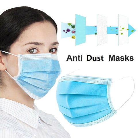 Coronavirus medical masks 10/50pcs Disposable Face Mouth Mask I