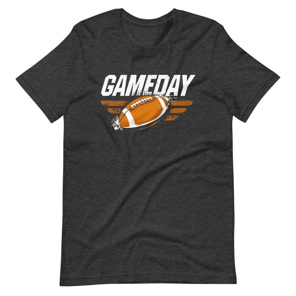 Game Day Football T-Shirt - Dark Grey Heather - Relatable Wear