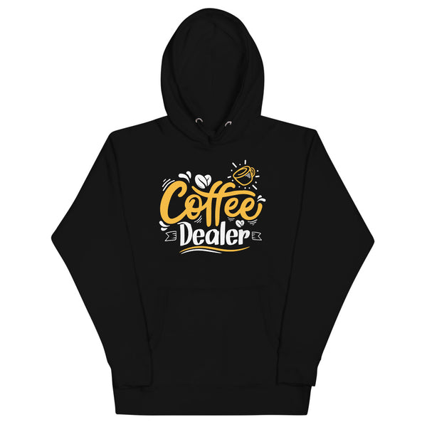Coffee Dealer Hoodie - Black - Relatable Wear