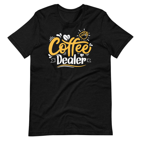 Coffee Dealer T-Shirt - Black Heather - Relatable Wear