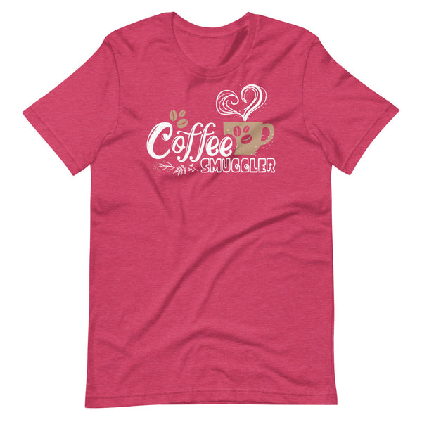 Coffee Smuggler T-Shirt - Raspberry Heather - Relatable Wear