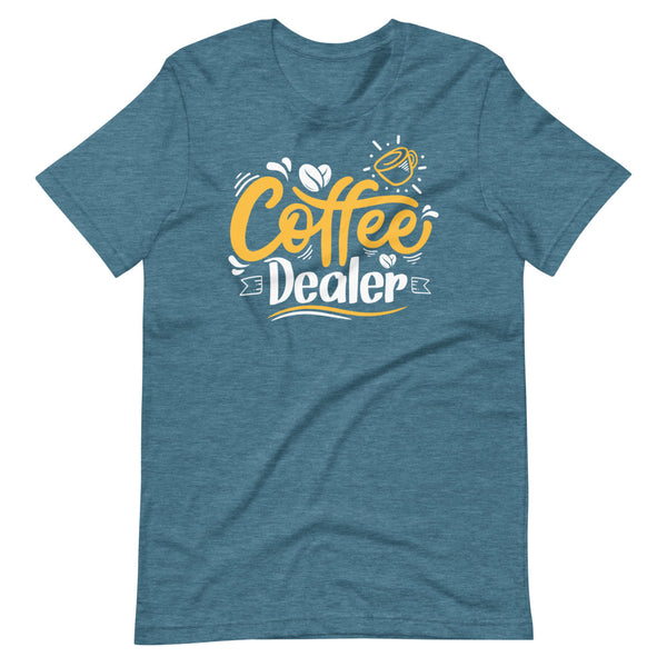 Coffee Dealer T-Shirt - Teal Blue Heather - Relatable Wear