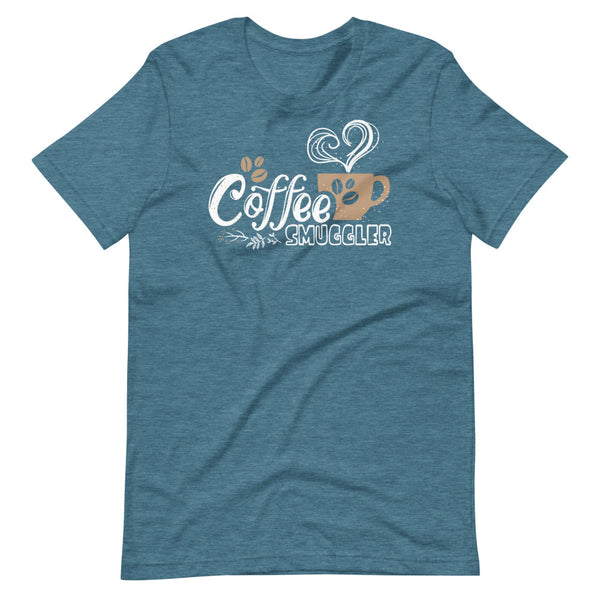Coffee Smuggler T-Shirt - Teal Blue Heather - Relatable Wear