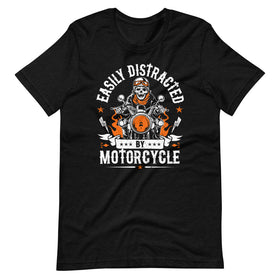 Easily Distracted By Motorcycle T-Shirt