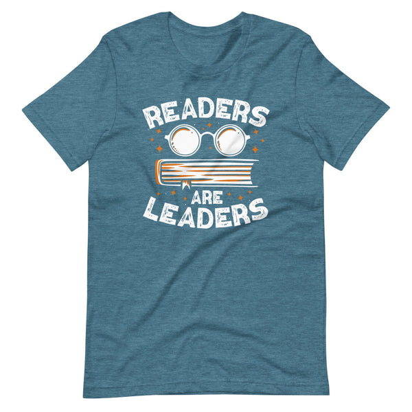 Readers Are Leaders T-Shirt - Teal Blue Heather - Relatable Wear
