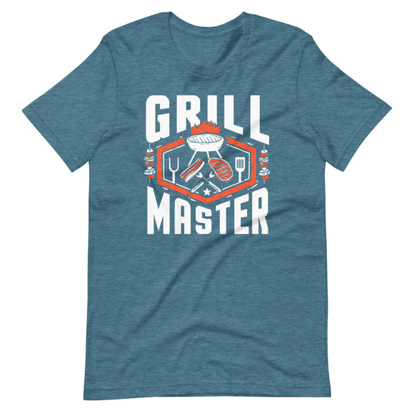 Grill Master T-Shirt - Teal Blue Heather - Relatable Wear