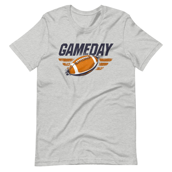Game Day Football T-Shirt - Light Grey Heather - Relatable Wear