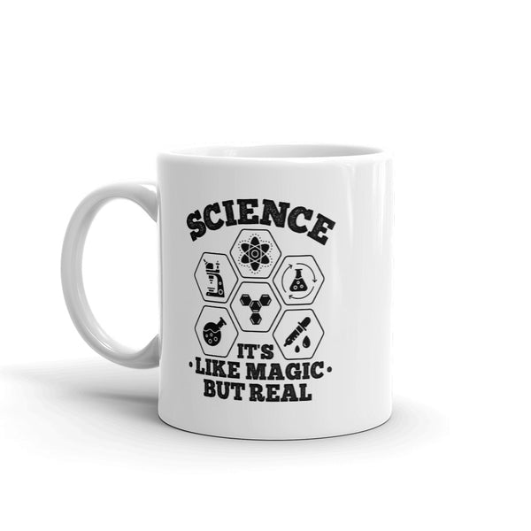 Science It's Like Magic But Real Mug - White - Relatable Wear