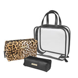 Tahari Cosmetic Bag  Triple Pack in 3 Designs - YaamiFashion