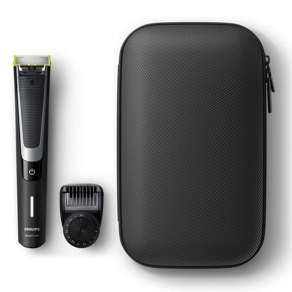 Philips OneBlade Pro Face Hybrid Trimmer With Travel Pouch QP6510/64 - YaamiFashion