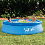 Intex 10ft 3.05 m Easy Set Ring Pool + Water Filter Pump - YaamiFashion