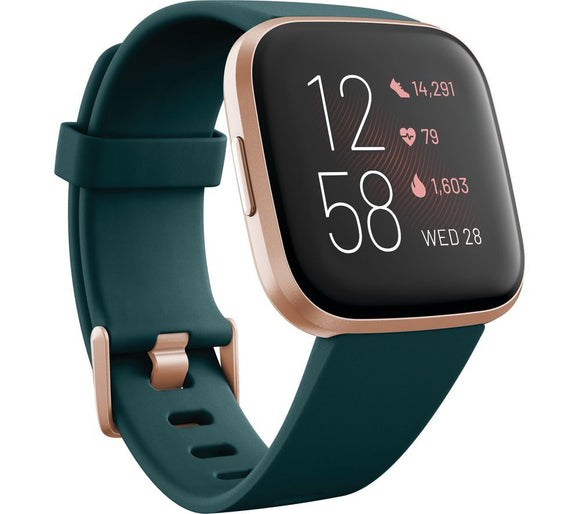 Versa 2 with Amazon Alexa - Emerald & Copper Rose - YaamiFashion