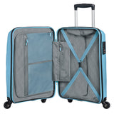 American Tourister Bon Air Carry On Spinner Case, Blue Topaz - YaamiFashion