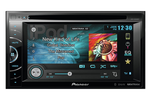 AVH-X2600BT   -   6.1 inch Screen, DVD Multimedia player, bluetooth, 3 Pre-outs, USB, AUX-in, MirrorLink