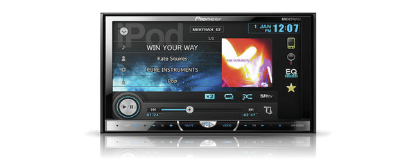 AVH-X5500BT   -   7 inch Screen, DVD Multimedia player, bluetooth, AppRadio Mode, 3 Pre-outs, High Voltage Output