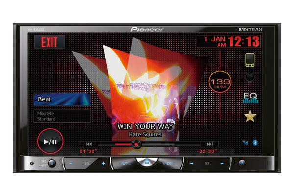 AVH-X8500BT   -   7 inch Screen, DVD Multimedia player, bluetooth, AppRadio Mode, 3 Pre-outs, High Voltage Output