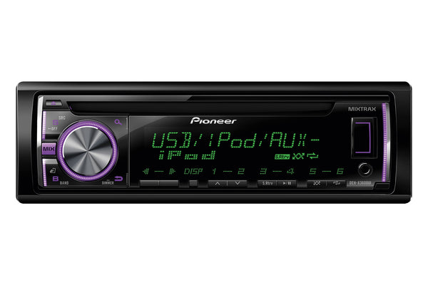 DEH-X3600UI   |   Stereo, CD, USB, iPhone, Android, Multi-Colour Display, MIXTRAX, 2 Pre-outs,