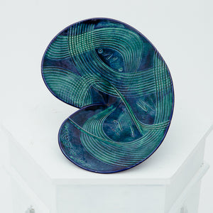 MCM Blue & Teal Ceramic Swirly Catch All
