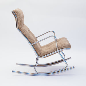 1970's Mod Chrome Rocking Chair