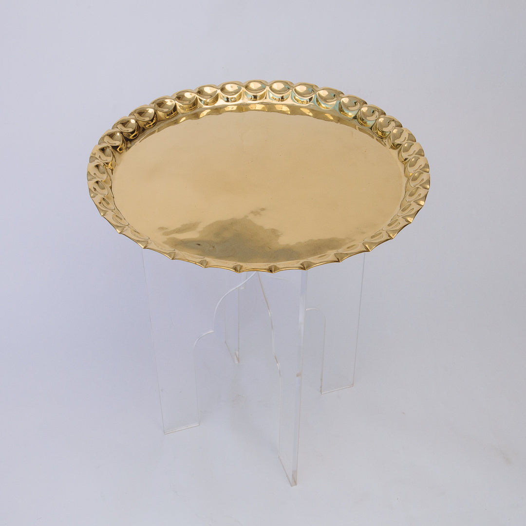 Sayida Collection: Fez Lucite Tray Table