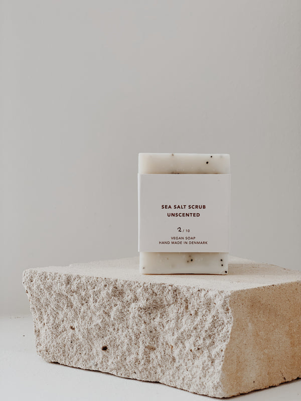 Håndlavet Sea salt scrub / unscented