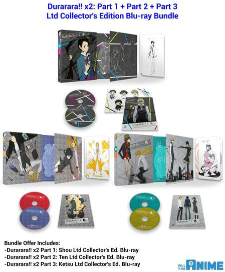Durarara!! x2 Part 1+2+3 Blu-ray Bundle