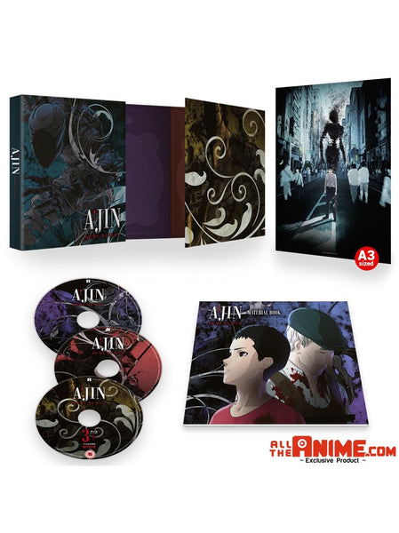 AJIN: Demi-Human Season 1 Collector's Ed. Blu-ray w/ A3 Poster *AllTheAnime.com Exclusive*