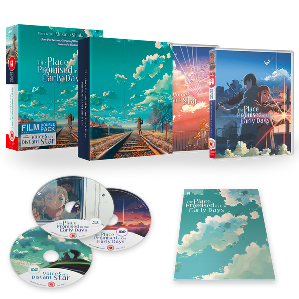 Makoto Shinkai 'The Place Promised In Our Early Days' + 'Voices Of A Distant Star' - Blu-ra/DVD Ltd Collector's Edition