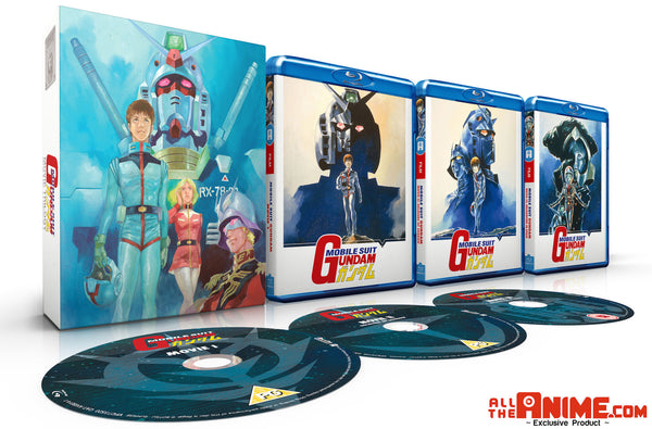 *AllTheAnime.com Exclusive* Mobile Suit Gundam Movie Trilogy - Blu-ray