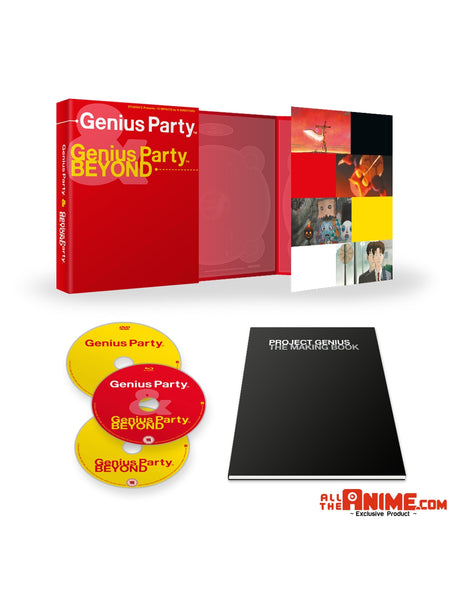 Genius Party & Genius Party BEYOND  - Ltd Collector's Edition Blu-ray+DVD *AllTheAnime.com Exclusive*