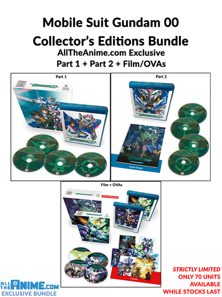 Gundam 00 Complete (Part 1, Part 2, Film + OVAs) Blu-ray Collector's Editions Bundle Offer - AllTheAnime.com Exclusive Offer