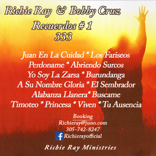 AUTOGRAPHED Richie Ray CD - Recuerdos #1 CD (Richie Ray & Bobby Cruz)