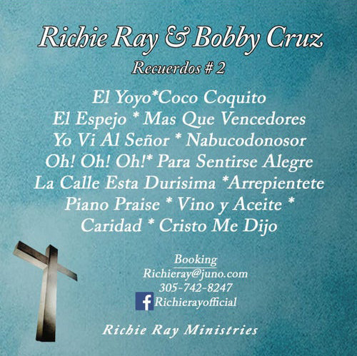 AUTOGRAPHED Richie Ray CD - Recuerdos #2 CD (Richie Ray & Bobby Cruz)