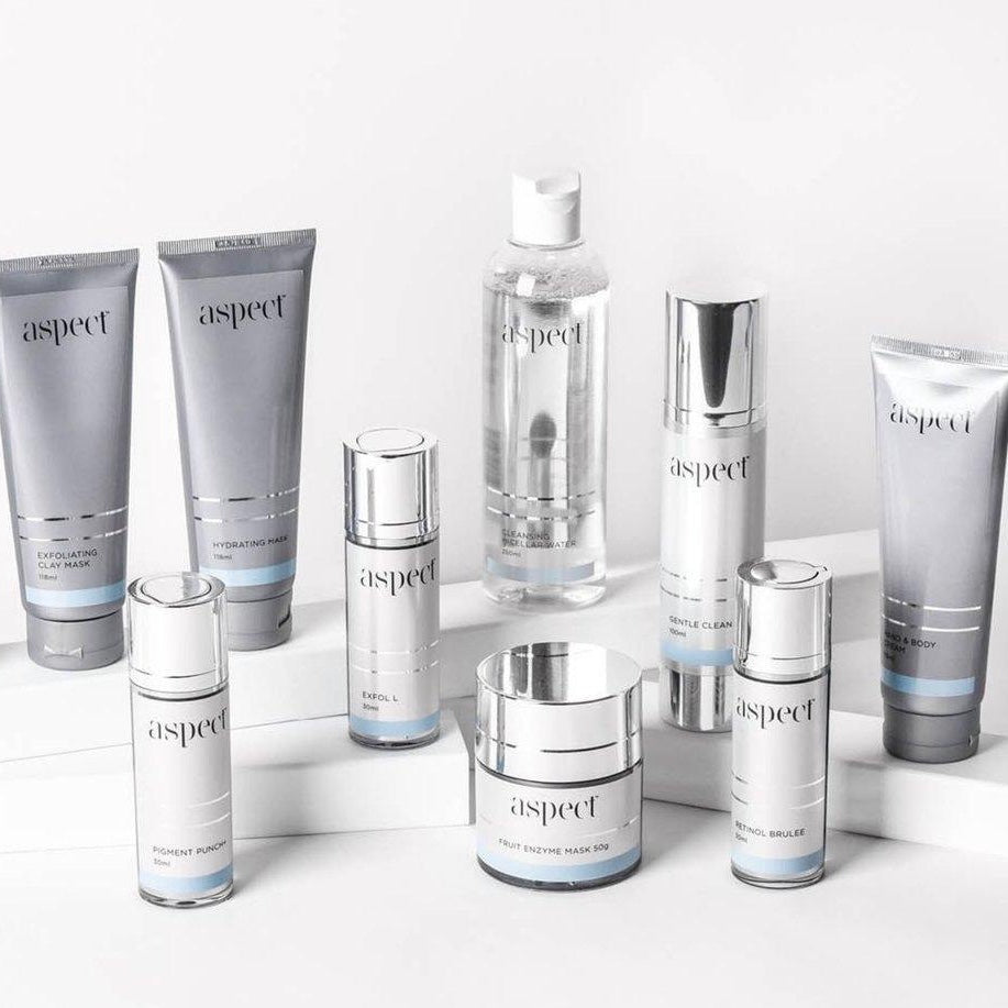 Atone's range of Aspect Cleansers, Moisturisers, Masks & more