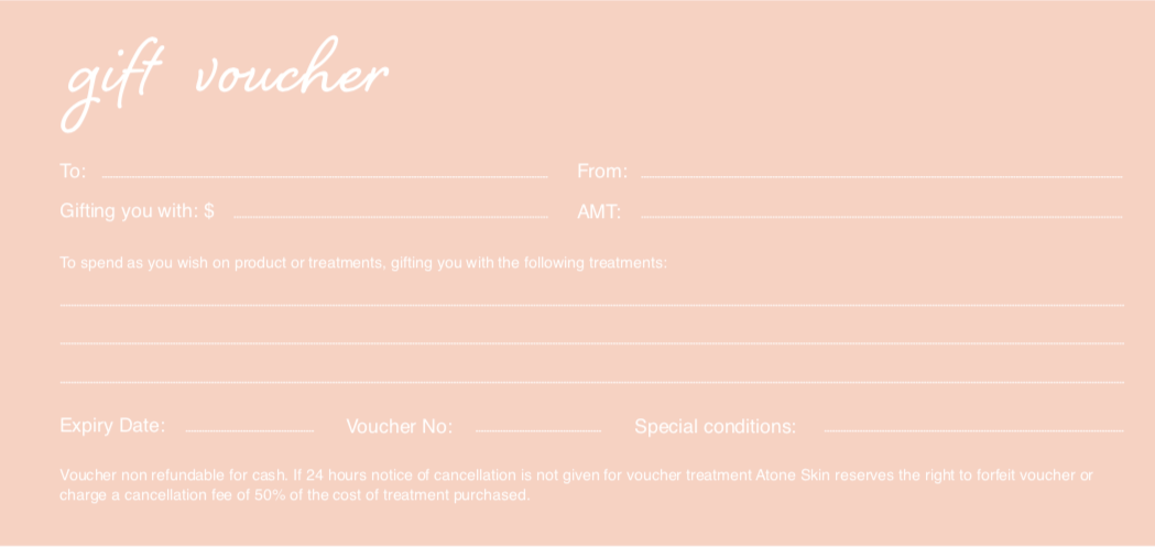 Atone Skin Clinic and Store Gift Voucher