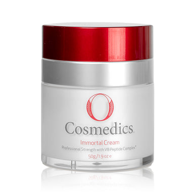 O Cosmedics #1 selling hydrator! Cutting edge super-antioxidants and potent concentrations of V8 Peptide Complex® (topical muscle relaxant) make this age defying cream a five star anti-aging treatment. Fortified with mega doses of Vitamin C it works to awaken and hydrate the skin, assist relaxation of muscles and helps to reverse and diminish the signs of aging whilst providing a feeling of instant lift. Never ending youth!