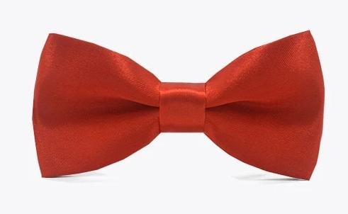 Red Satin Childrens Kids Child Bow Tie for girls and boys. Wedding, church or special occasion attire.